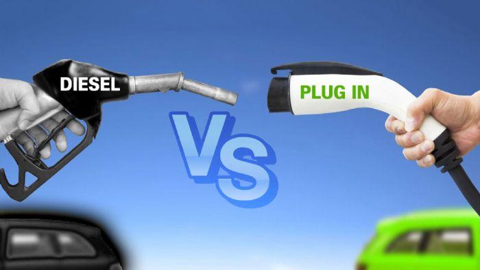 Diesel ή plug-in; Ποιο «καίει» λιγότερο στην εθνική;